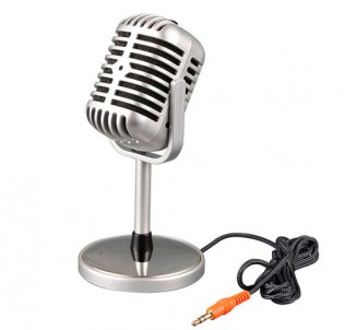 Стерео микрофон под ретро дизайн