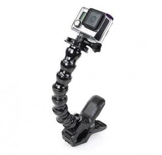 Крепление-монопод Gooseneck с прищепкой-челюсти для GoPro
