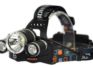 Налобный Фонарь 3xCree LED + 2 Аккума и 2 зарядки
