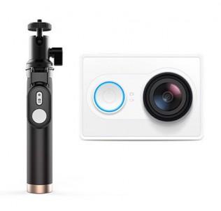 Экшн камера Xiaomi Yi Wi-Fi с моноподом и пультом