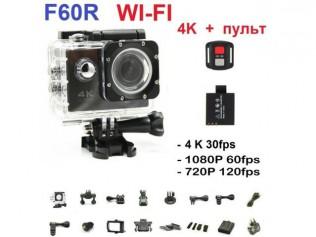 Экшен камера F60 4K Wi-Fi