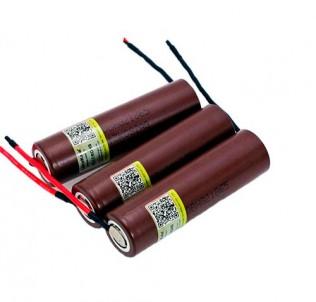 Аккумуляторы под пайку 35A 18650 LG HG2 3000 mAh Опт и розница