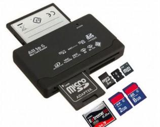 Картридер USB на все форматы CF/XD/SD/microSD/MSM2