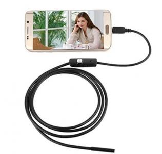 Видео эндоскоп HD 720p 2м на мягком проводе