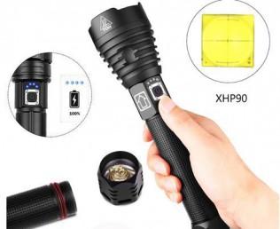 Мощные ручные фонари XHP90 micoUSB
