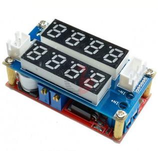 Преобразователь понижающий XL4015 5A с вольтметром и амперметром