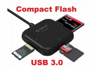 Картридер Compact Flash (CF) /SD/microSD USB 3.0