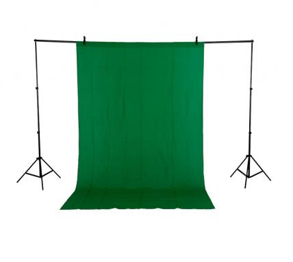Фон Хромакей 1.8 x 2.8 м Зеленый Муслин