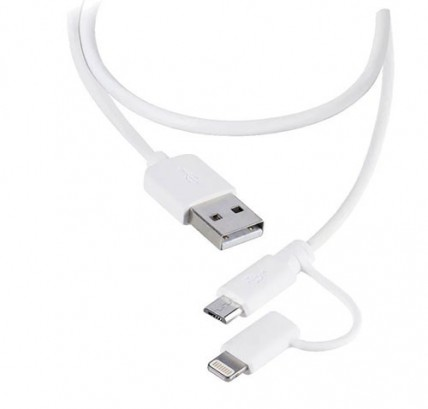 Мультикабель Lightning (iPhone) и microUSB 2в1