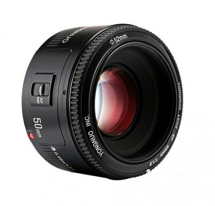 Объектив YN 50mm f/1.8 Canon EF + бленда