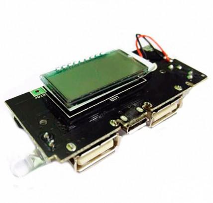 Модуль заряда для Power Bank 2USB с экраном