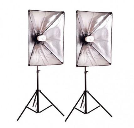 Комплект студийного освещения (стойки и софтбоксы)