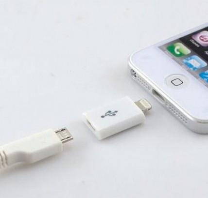 Переходник с microUSB на Apple Lighting (8-pin)